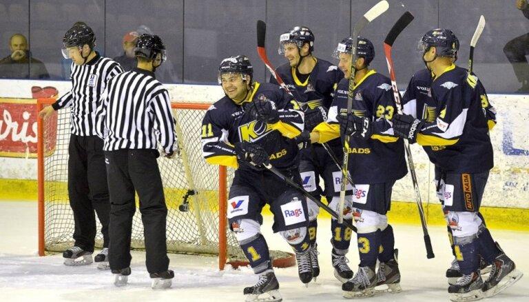 Favorītes 'Kurbads', 'Mogo' un 'Liepāja' uzvar hokeja virslīgas spēlēs