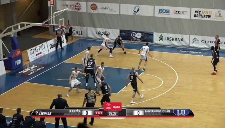 'OlyBet' basketbola līga: 'Liepāja' - LU. Spēles labākie momenti