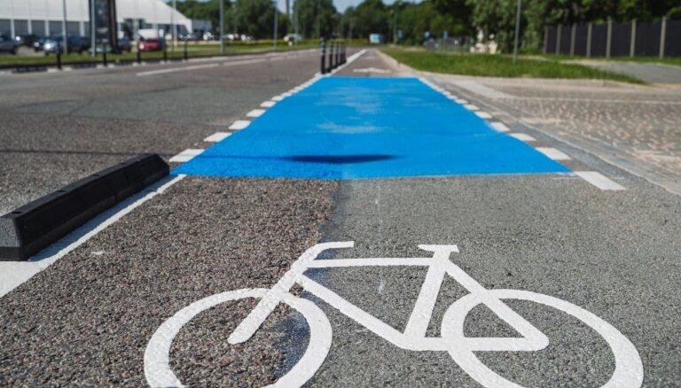 Ķīpsalā ierīkotas velojoslas abos braukšanas virzienos