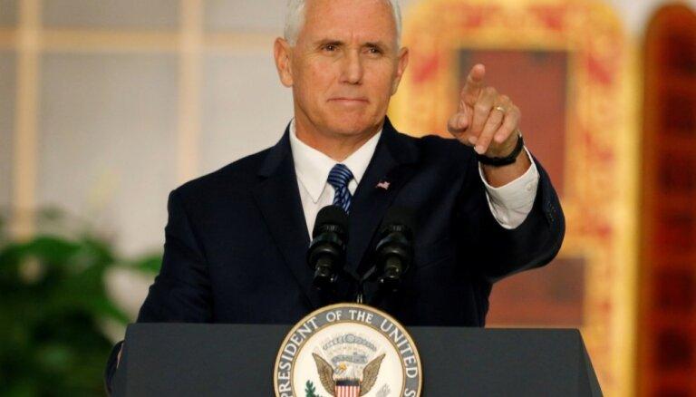 Penss paziņo par ASV sankcijām pret Venecuēlas naftas kuģiem