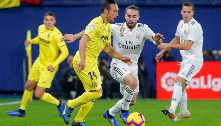 Madrides 'Real' nespēj uzvarēt arī Spānijas čempionāta pastarīti 'Villareal'