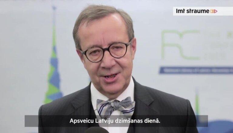 Video: Igaunijas prezidenta sveicieni Latvijas dzimšanas dienā