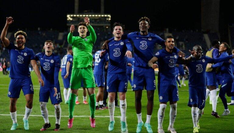 Londonas 'Chelsea' otro reizi vēsturē triumfē UEFA Čempionu līgā