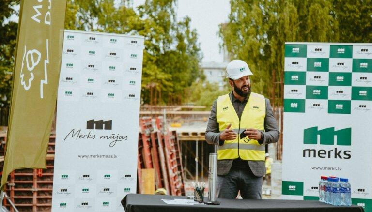 Uzsākta dzīvojamo ēku projekta 'Merks Duntes Zīles' būvniecība