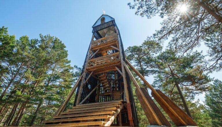 Dabas parks 'Bernāti', kurā iespējams uzkāpt Latvijā augstākajā kāpā