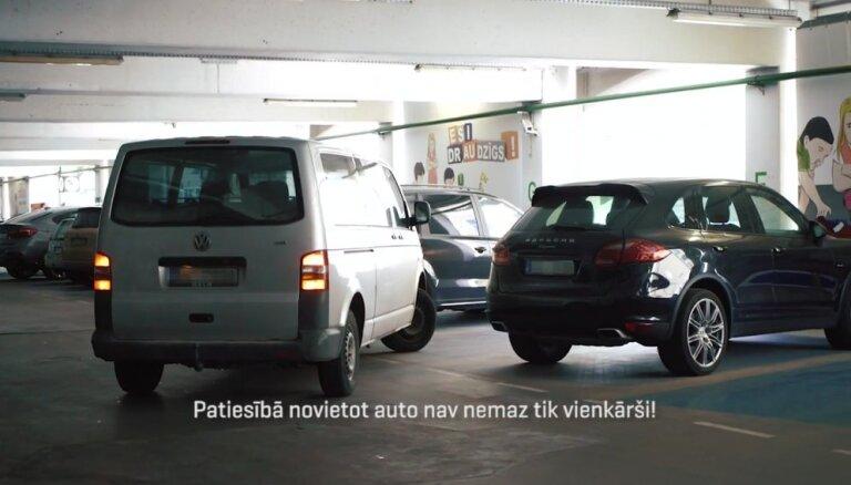 Atklāta pirmā 'ParkoSkola' Latvijā – iespēja bez maksas uzlabot auto novietošanas prasmes