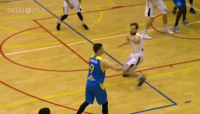 'OlyBet' basketbola līga: 'Kalev/TLU' - 'Ventspils'. Spēles labākie momenti