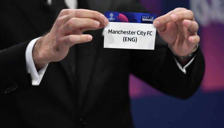 Čempionu līgas astotdaļfinālā tiksies 'Real' un 'Manchester City'