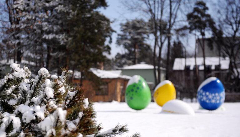 Pēdējos gados sniegs Lieldienās bijis tikpat bieži kā Ziemassvētkos