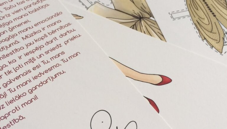 Mazajām meitenēm būs iespēja spēlēties ar Aijas Andrejevas vārdā nosauktu papīra lelli
