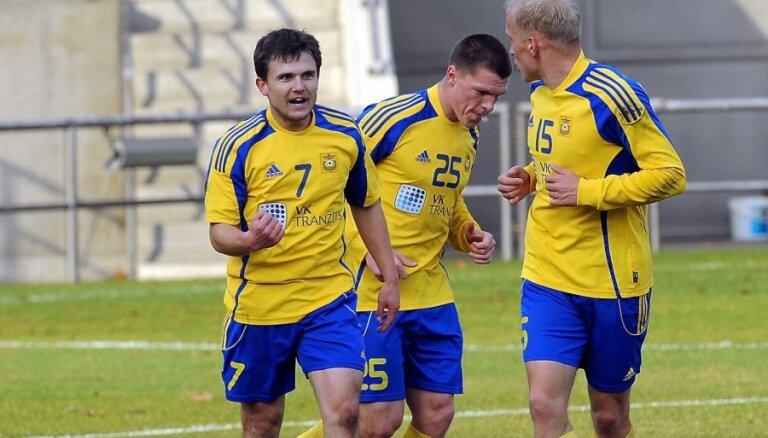 'Ventspils' futbolistiem uzvara Latvijas virslīgas pēdējo gadu čempionu cīņā