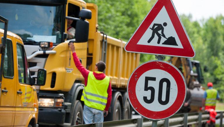 Autovadītāju ievērībai: remontdarbu laikā daudzviet ieviesti satiksmes ierobežojumi
