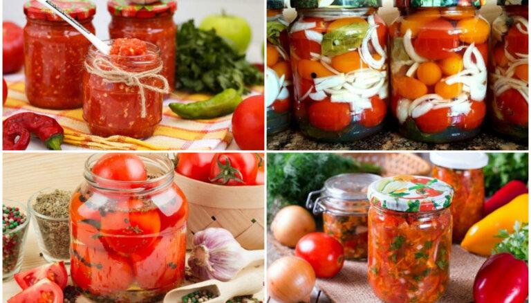 Bez pasterizēšanas un liekām pūlēm: 14 tomātu receptes ziemai