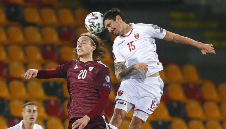 Latvijas futbolisti 'septembra sabraukumu' noslēdz ar maču viesos pret Melnkalni