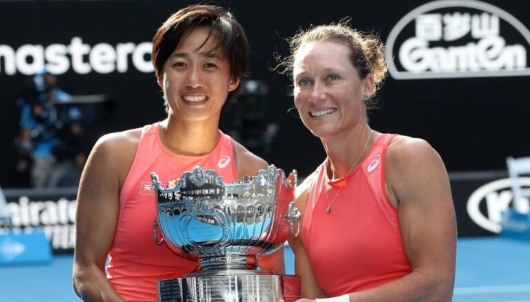 Stosura un Džana kļūst par 'Australian Open' čempionēm dubultspēlēs