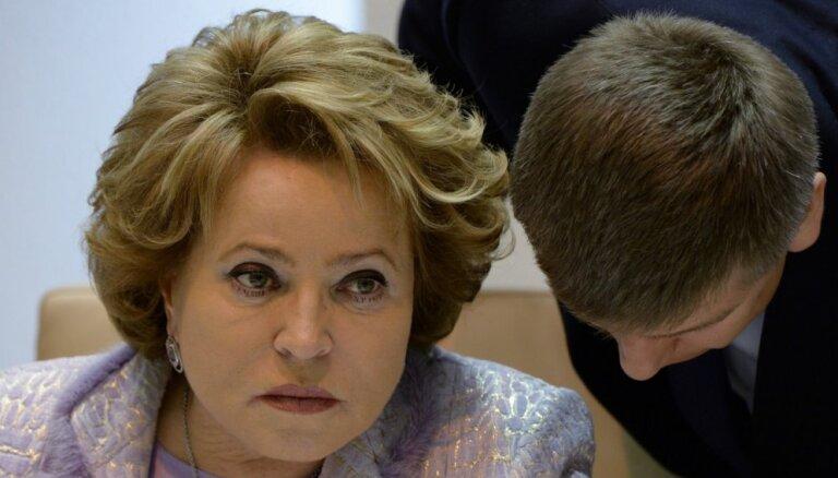 Российские СМИ сообщили о скором уходе Валентины Матвиенко с поста спикера Совета Федерации