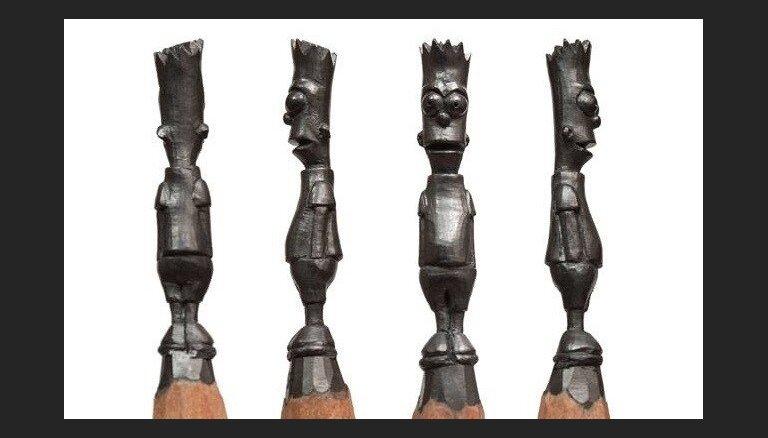 Foto: Pārsteidzoša precizitāte - mākslinieks veido skulptūras zīmuļu galos