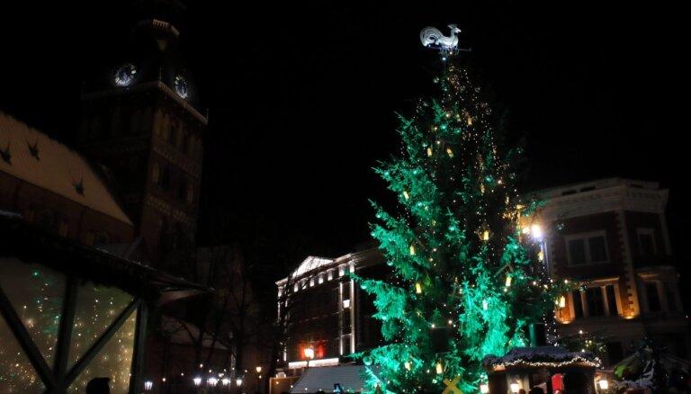 В первое воскресенье Адвента в Риге зажгут рождественские елки
