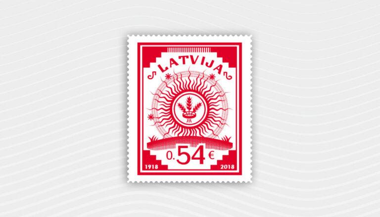 Atkārtoti izdod Anša Cīruļa radīto brīvvalsts pirmo pastmarku