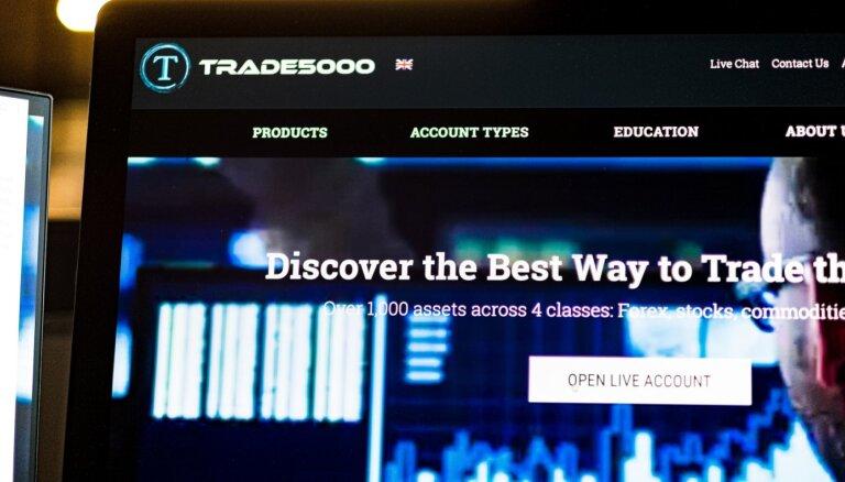 FKTK brīdina par 'Trade5000' piedāvātajiem ieguldījumu pakalpojumiem