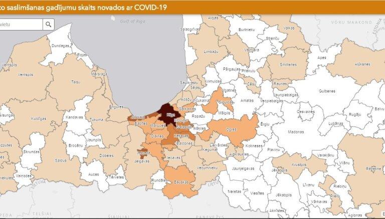 Covid-19 Latvijā – saslimšana joprojām konstatēta 55 novados; straujākais pieaugums – Rīgā