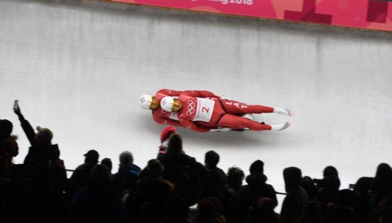 Latvijas kamaniņu sporta komanda Phjončhanas spēles noslēdz ar sesto vietu stafetē, olimpisko čempionu tituls Vācijai