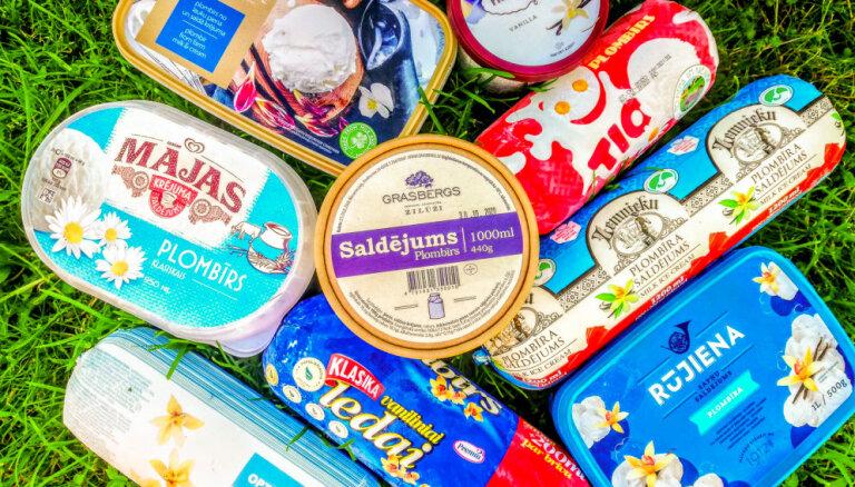 Augu tauki vai īsts plombīra saldējums? 'Tasty' pēta našķu sastāvu un garšu
