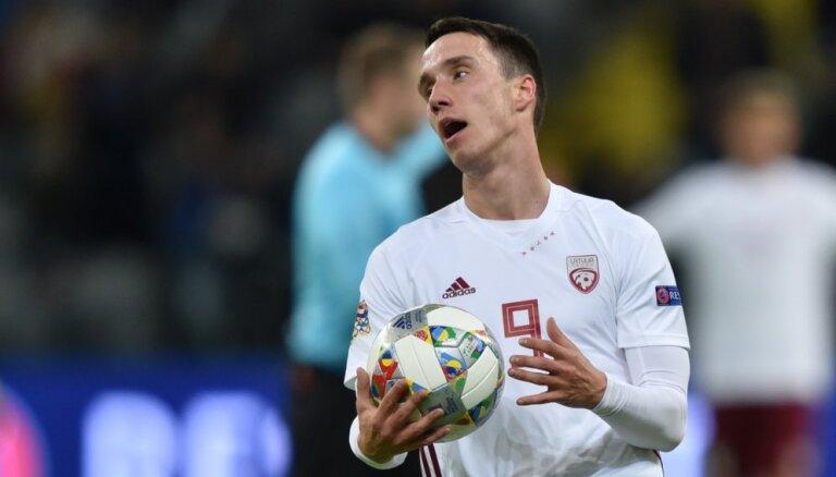 Dāvis Ikaunieks neglābj 'Jablonec' no zaudējuma Čehijas čempionāta spēlē