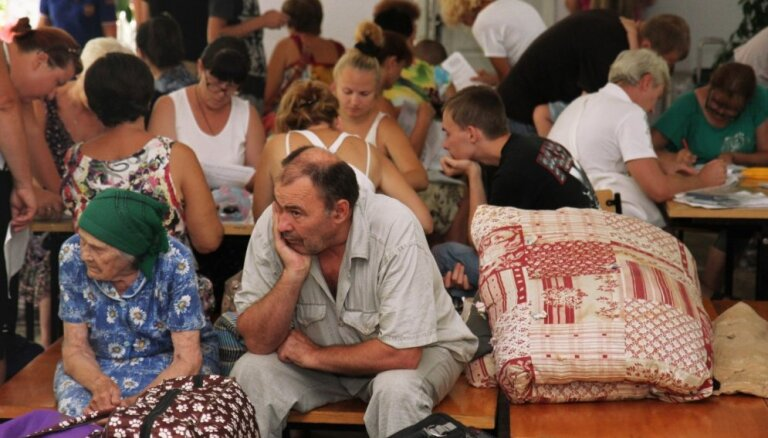 Luhanskas apgabala pilsētas pēc atbrīvošanas no separātistiem pārpildītas ar iedzīvotājiem