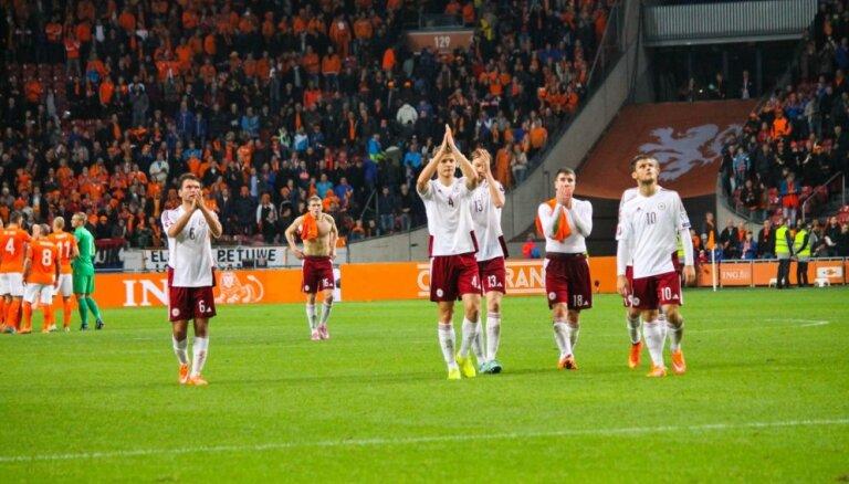Латвия находится в рейтинге ФИФА между Антигуа и Беларусью