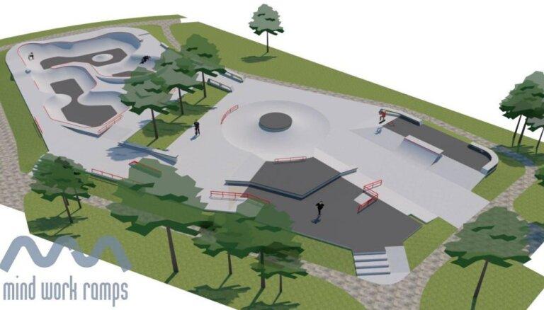 Весной в Иманте откроют бесплатный современный скейтпарк