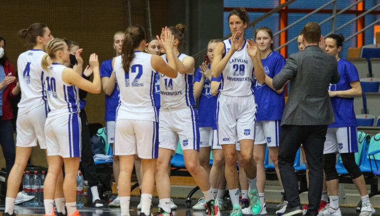 'Latvijas Universitāte' komanda izcīna bronzu Latvijas Sieviešu basketbola līgas čempionātā