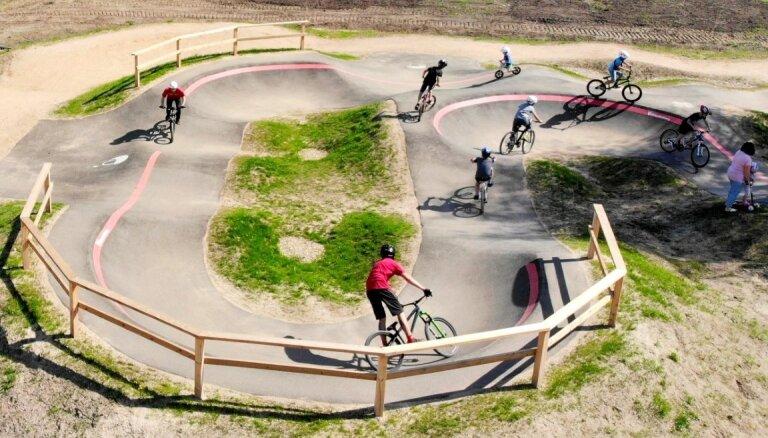 Balvos atklāts veloparks, kas ir viens no deviņiem šāda veida parkiem Latvijā