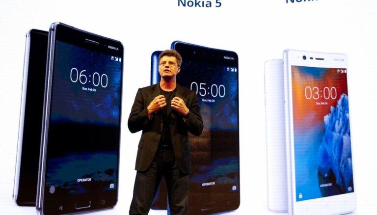 'Nokia' prezentējusi 'Android' viedtālruņus un klasiskā '3310' reinkarnāciju