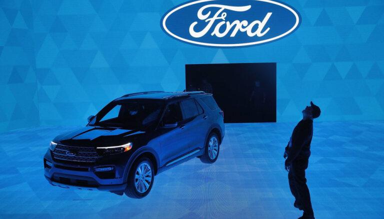 'Ford' pagājušajam ceturksnim prognozē 112 miljonu dolāru zaudējumus