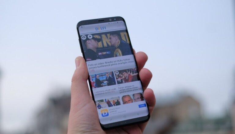 'Samsung' prezentējis jaunos 'Galaxy S8' un 'S8+' viedtālruņus