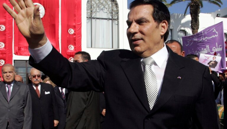 Miris Arābu pavasarī gāztais Tunisijas diktators ben Ali