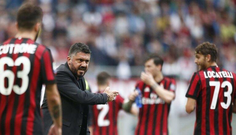 UEFA uz diviem gadiem diskvalificē 'AC Milan' no Eirokausiem