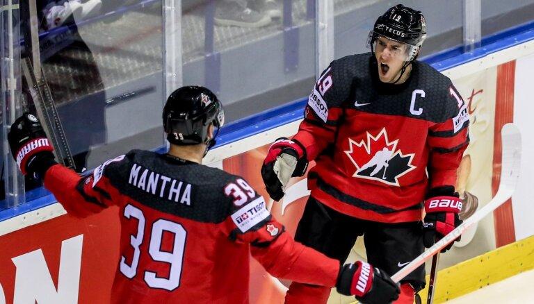 Kanāda principiālā duelī pieveic ASV un triumfē Košices grupā