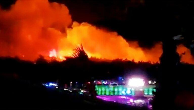 Meža ugunsgrēks izjauc mūzikas festivālu Horvātijā
