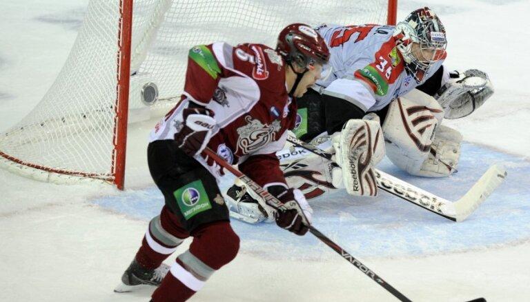 Astoņās sekundēs gūtie divi vārti ieskandina Rīgas 'Dinamo' uzvaru