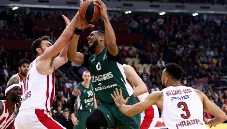 'Žalgiris' pieveic Strēlnieka 'Olympiacos', piektā uzvara pēc kārtas uztur 'play-off' sapni