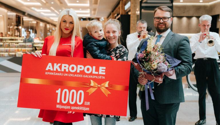 Торговый центр Akropole посетили свыше миллиона покупателей