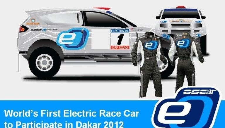 Latvieši atgriežas 'Dakarā' ar unikālu elektromotora 'OSCar' automobili