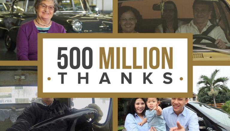 'General Motors' pateicas klientiem par 500 miljonu auto iegādi