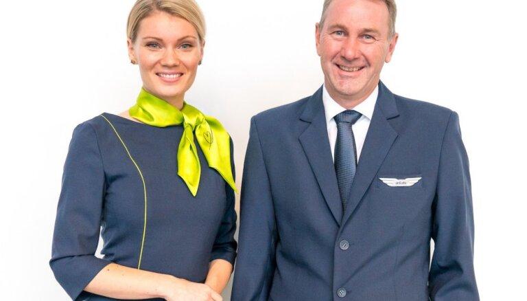 ВИДЕО. airBaltic вводит новую униформу для экипажа