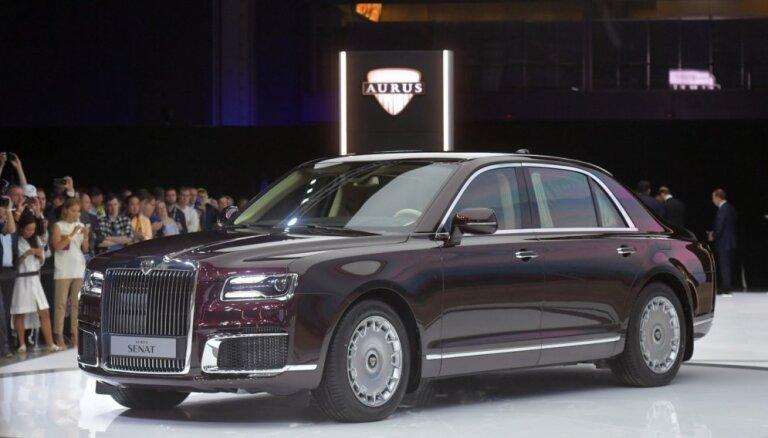 Krievu 'Aurus' limuzīns izrādījies dārgāks par vācu 'Maybach'