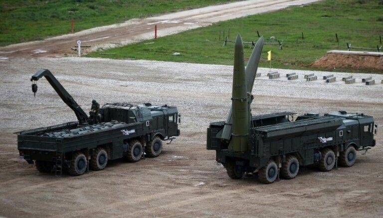 Kaļiņingradā notiek militārās mācības ar raķešu 'Iskander' izmantošanu
