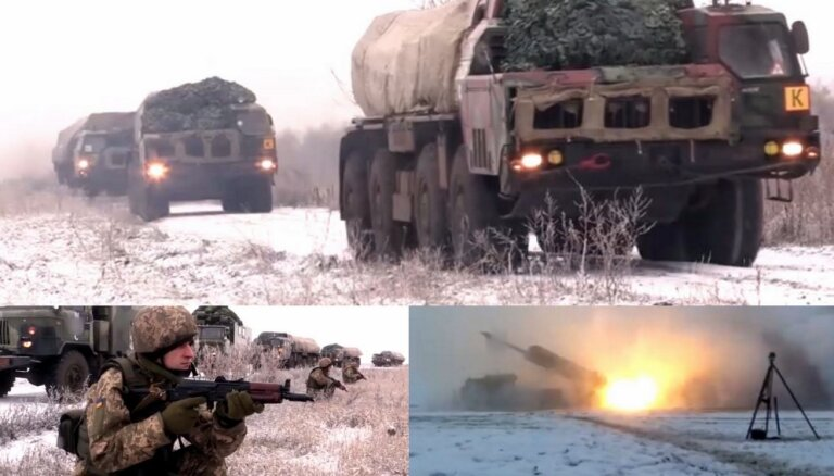 Video: Ukrainas spēki pārbauda draudīgo 'Smerč' iekārtu kaujas gatavību