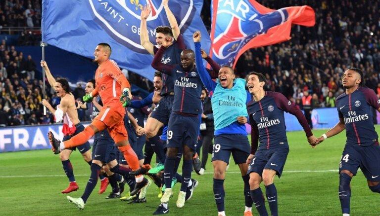 Parīzes 'Saint-Germain' atgūst Francijas čempionu titulu